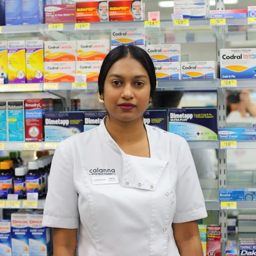 Calanna pharmacy - Team member Nikita-Kudumula